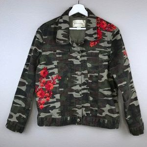 Anthropologie Pilcro & the Letterpress Camo Jacket